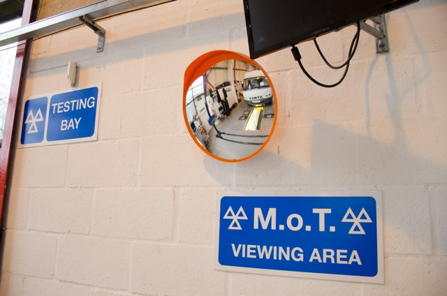 Inside our motorhome servicing workshop Poole